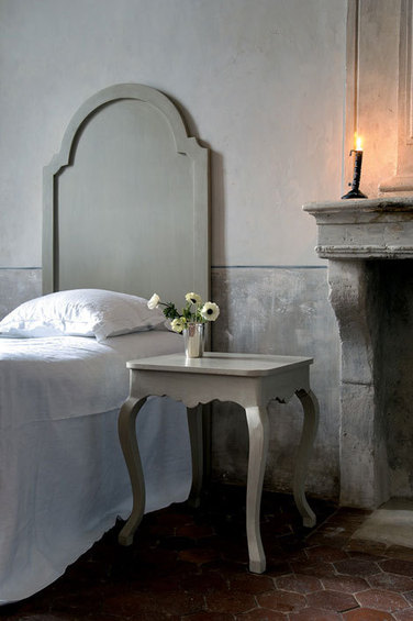 Спальня в сером стиле.